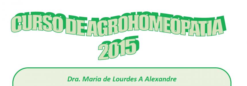 Curso de Agrohomeopatia 2015